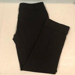 Black crop pants business attire